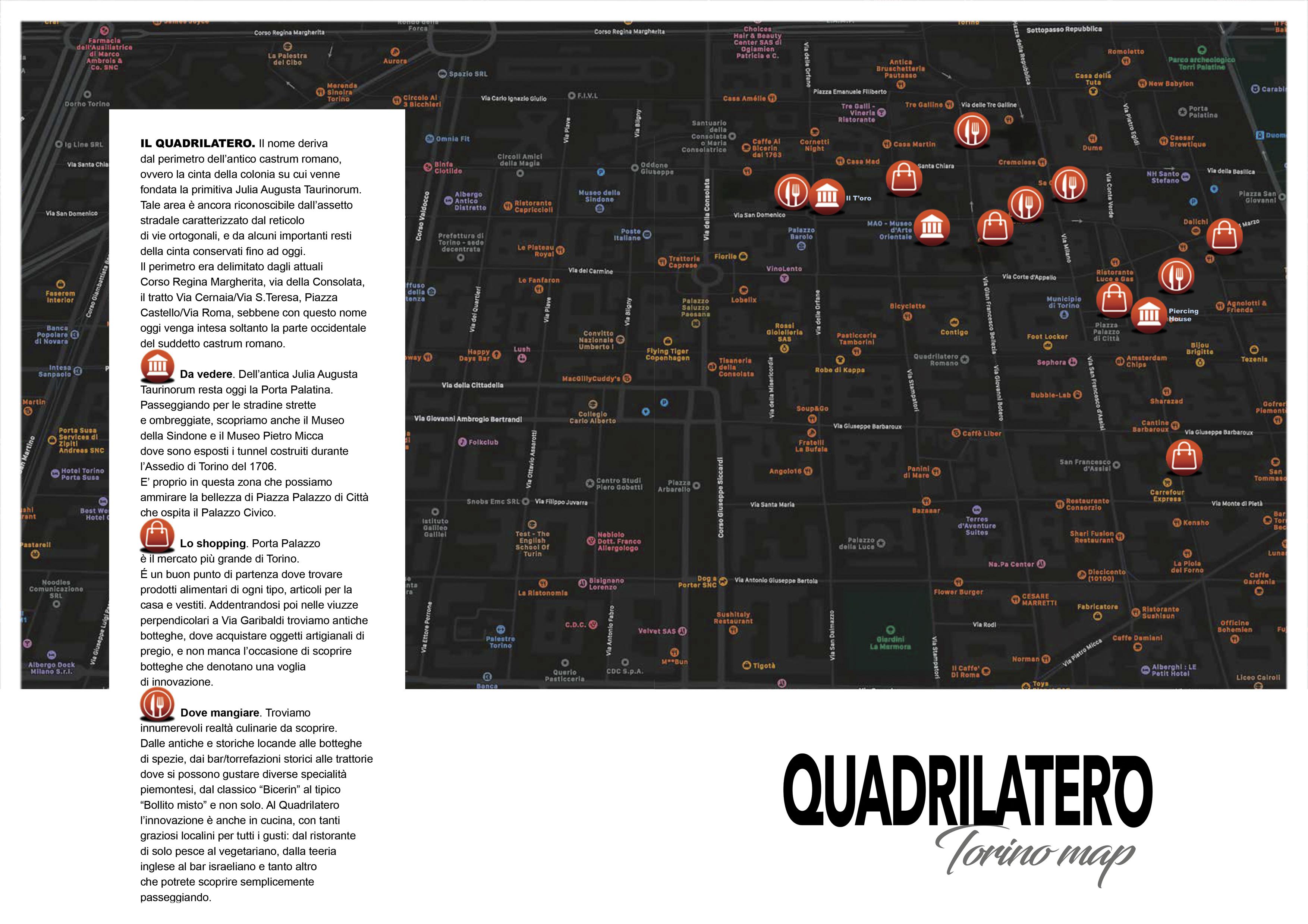 QUADRILATERO TORINO map